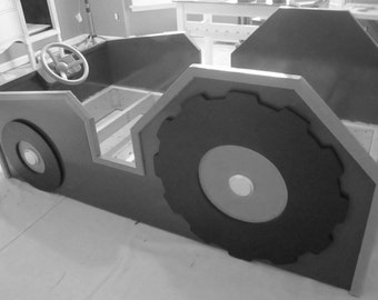 Custom Child's Tractor Bed
