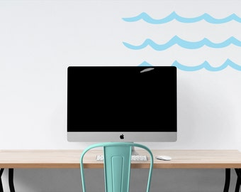 Wall Ocean Waves vinyl decal