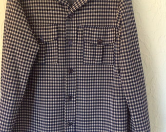 Vintage Big Yank Blue check pattern shirt.  Size Large