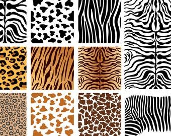 Vector Animal Skins - Seamless Patterns