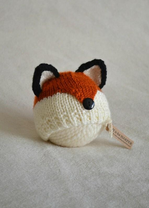 Newborn Fox Hat Baby Fox Hat Fox Hat Knit Fox Hat Boy