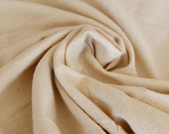 Cotton Khadi Fabric/Skin Friendly/Eco-Friendly/Indian Handwoven, Handspun Natural Khadi Fabric/ Raw Non-Dyed Fabric!!