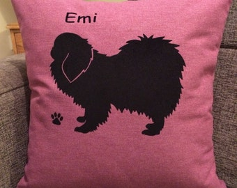 Personalised Pekingese Cushion