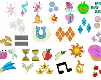 Cutie Mark Embroidery Set - 90+ Characters/Designs in 250+ Sizes