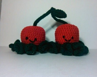Jerry and Terry the crochet cherry octopi