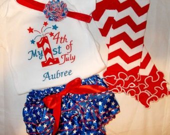 Baby Girl 4th of July Outfits, 4th of July Outfits for Baby Girls, Baby Girl Fourth of July Outfits, Girl My First 4th of July Outfit
