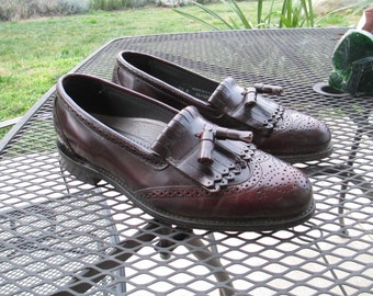 Vintage Leather Men's Dexter Shoes - Pristine Condtion - Mint with Dexter Stamps on Bottom  - Size 10