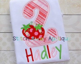 Strawberry Number Set Machine Applique Design