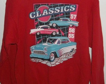 Vintage 1993 Classic Car, Sweatshirt, 55, 56, 57 Chevy Car Shirt