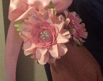 Paper Flower Wrist Corsage - Prom or Bridal