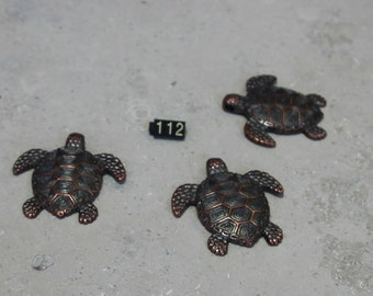 1 Bronze Sea Turtle Pendant #112