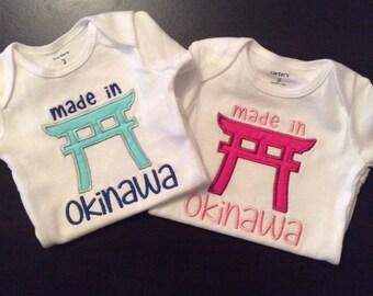 Made In Okinawa Onesie
