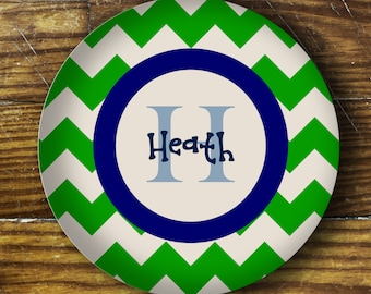 Personalized Melamine Plate- Heath
