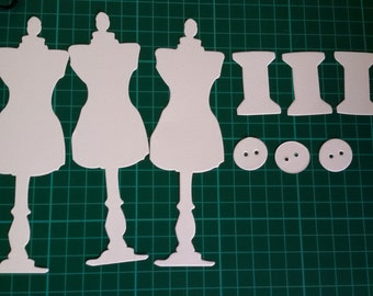 spool and dummy button die cut