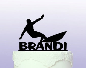 Personalised Surfs up Cake Topper