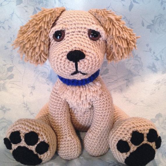 Golden Retriever Pouty Puppy Amigurumi PATTERN
