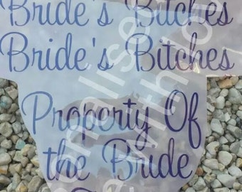 diy iron on decal for bridal/wedding party