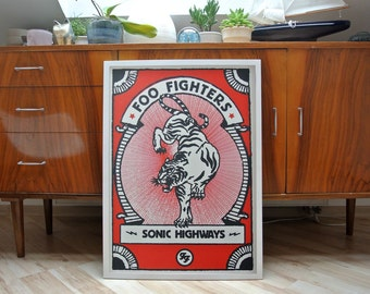 Foo Fighters | A2 screenprint | limited of 40
