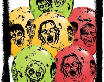 zombie balloons zombie party decorations halloween party zombie party balloons zombie decorations - Zombie Decorations