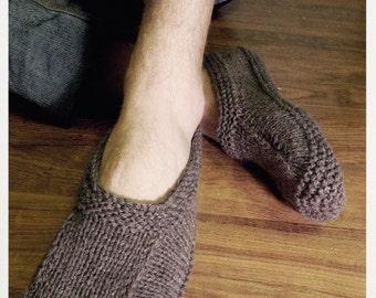 MEN SLIPPER SOCKS. Knitted slippers. Wool slippers.  House slippers. Birthday present. Men socks
