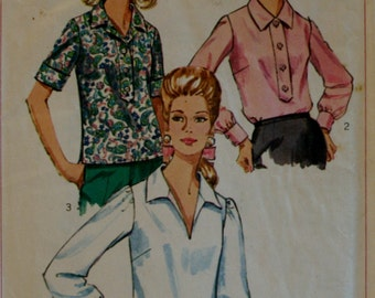 Simplicity 7172 Vintage Misses'  Blouse Sewing Pattern Size:18