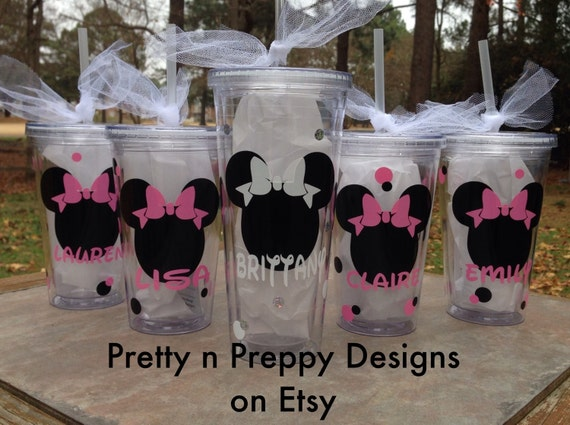 Personalized Disney Wedding Gifts: Disney Inspired Wedding Party Tumblers/ By