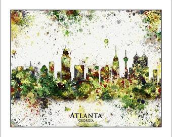 ATLANTA Skyline, Atlanta, GEORGIA, Atlanta Map, Map of Atlanta, Map of Georgia, Georgia Map, Atlanta BRAVES, Atlanta Falcons, Atlanta Hawks
