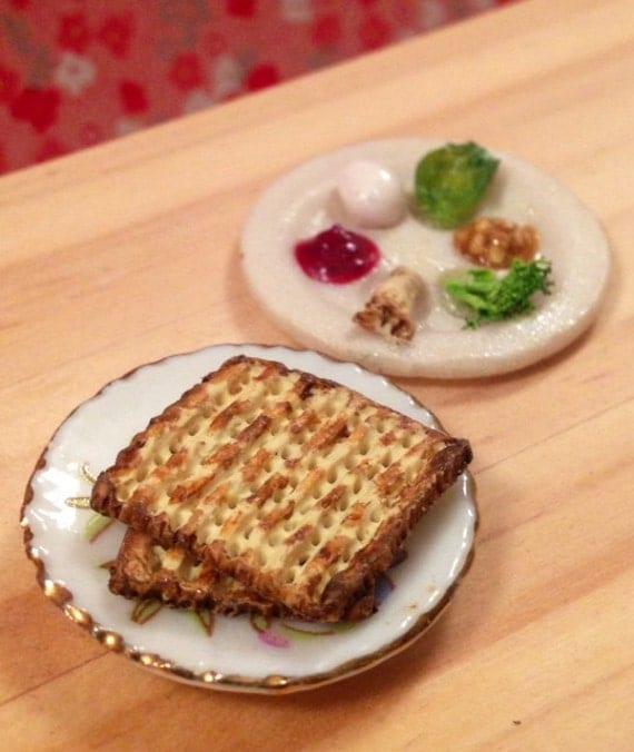 Dollhouse Miniature Food Miniature Jewish Polymer Clay Seder