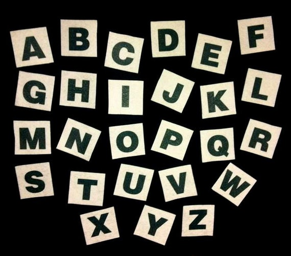 Felt board alphabet upper case letters flannel board story for Flannel board letters