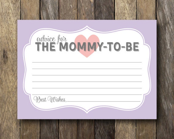 Ambitious image for mommy advice cards printable