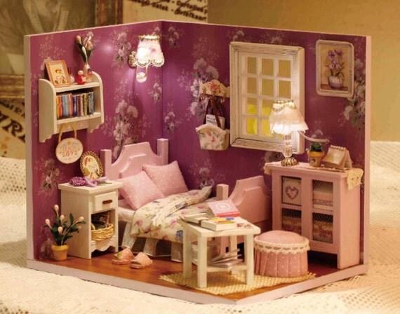 dollhouse miniature bedroom set 2