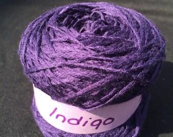 100% Bamboo Sock Yarn in Indigo