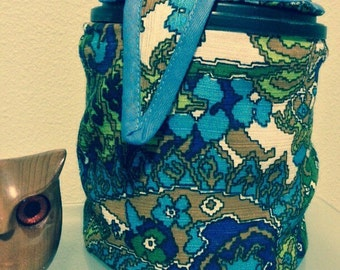 Vintage Hand Made Sewing Tote