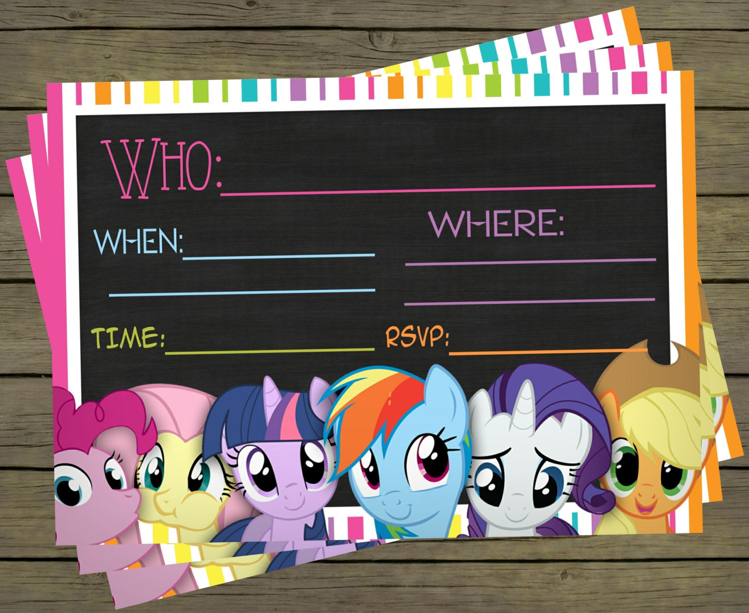 It is a graphic of Exceptional My Little Pony Invitations Free Printable