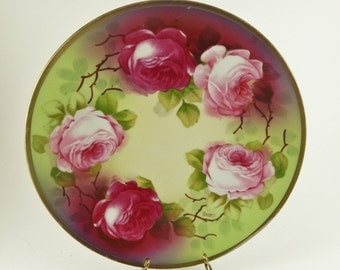 "O&EG Royal Austria Hand Painted and Signed George 8 7/8"" PLATE"