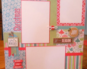 12x12 premade scrapbook page