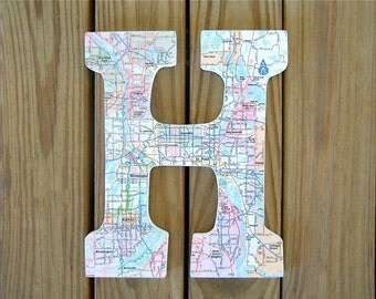letters covered in maps