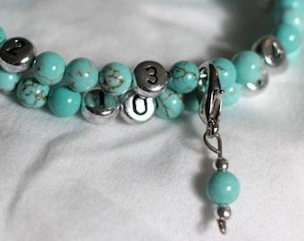 Nursing Bracelet / Breastfeeding Bracelet - Turquoise Howlite - New Mom Gift / Baby Shower Gift - Mother Gift - nursing reminder