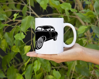 KillerBeeMoto: U.S. Made Coffee Mug   Limited Release Vintage British Sports Car E-Type Coffee Mug (White)
