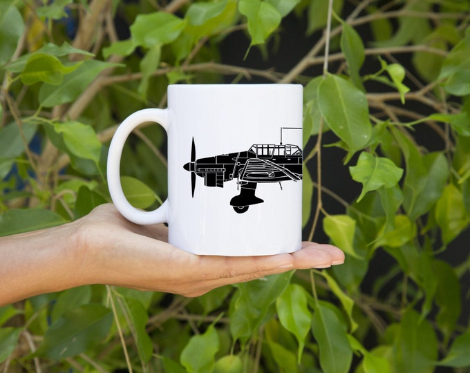 KillerBeeMoto: U.S. Made Coffee Mug Junkers Ju 87 Stuka Dive Bomber Plane Coffee Mug (White)