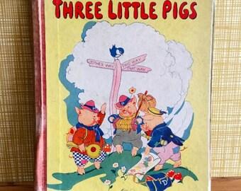 Vintage Three Little Pigs Book