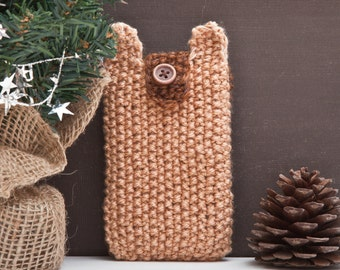 Bear iPhone 6s case, Knitted iPhone 4 / 4S, iPhone 5 / 5c /5s, Samsung Galaxy S4 mini, phone case cell, nexus 5x case, Mom Gift