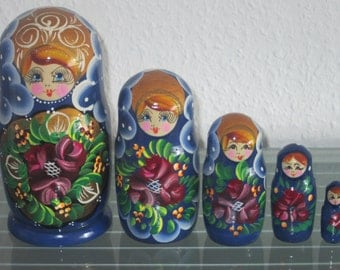 Babushka Matryoshka Matryoshka Russian Dolls Matruschka 5 pcs 5 pcs
