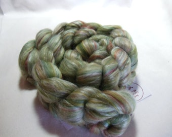 Merino/Silk roving for spinning or felting