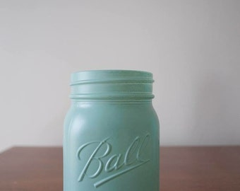 Painted Pint Mason Jars (2 jars)