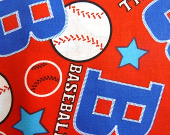 """Baseball Cotton Fabric.  44"""" wide sold by the yard"""
