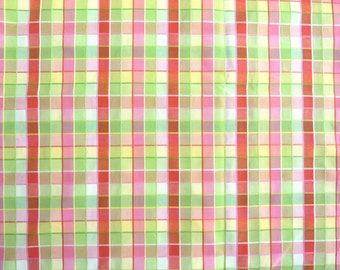 """Bright Spring Colors Plaid Heavier Weight Cotton Fabric.  54"""" wide x 58 inches"""