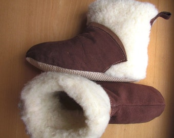 Suede slippers Fur boots Warm slippers Indoor boots Gift from Ukraine Only 1pair size EU 40-41