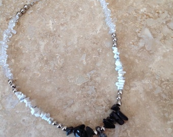Ombre cross necklace