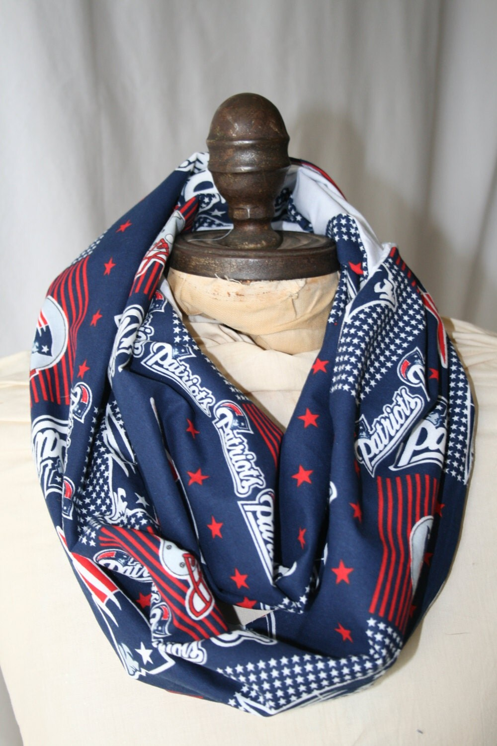 nfl blue new patriots infinity scarf by gamedaybella